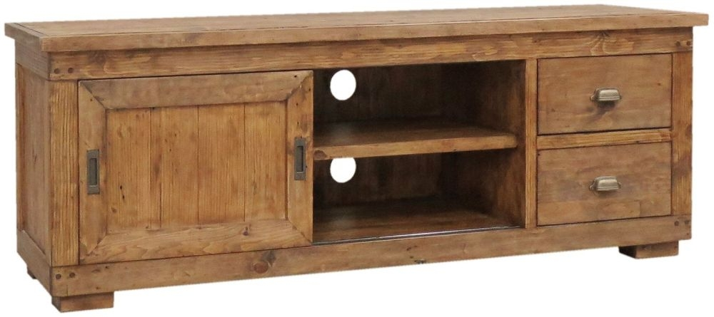 Camrose Reclaimed Pine TV Cabinet - Large