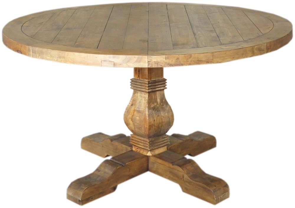 Buy Camrose Reclaimed Pine Dining Table Round Online Cfs Uk