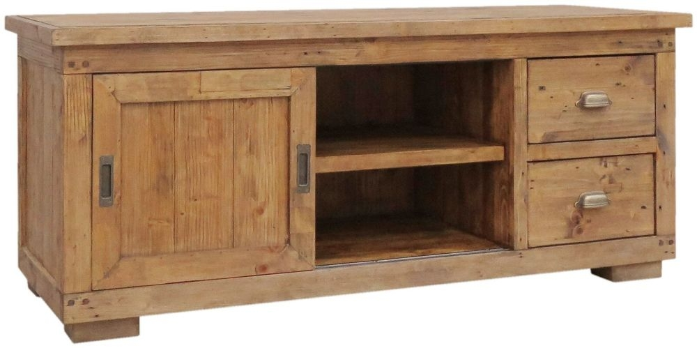 Camrose Reclaimed Pine TV Cabinet - Small