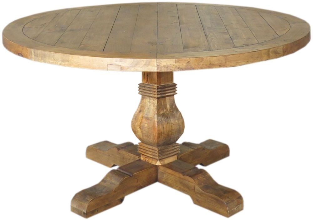 Camrose Reclaimed Pine Dining Table - Round
