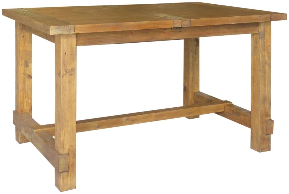Camrose Reclaimed Pine Rectangular Extending Dining Table - 140cm-180cm
