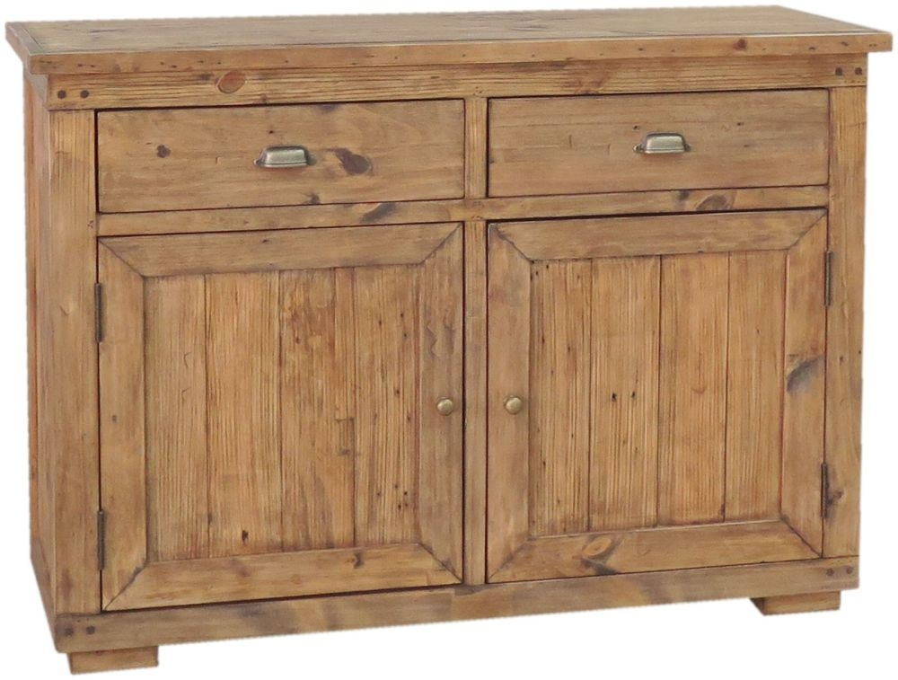 Camrose Reclaimed Pine 2 Door 2 Drawer Narrow Sideboard