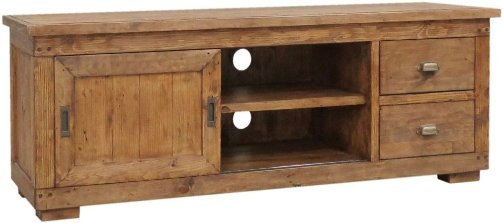 Camrose Reclaimed Pine Large TV Cabinet