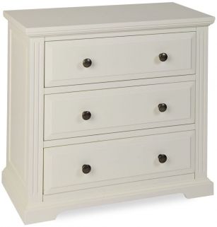 Chantilly White Painted Chest of Drawer - 3 Drawer