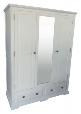 Chantilly White Painted Triple Wardrobe