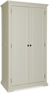 Chantilly White Painted Wardrobe - 2 Door