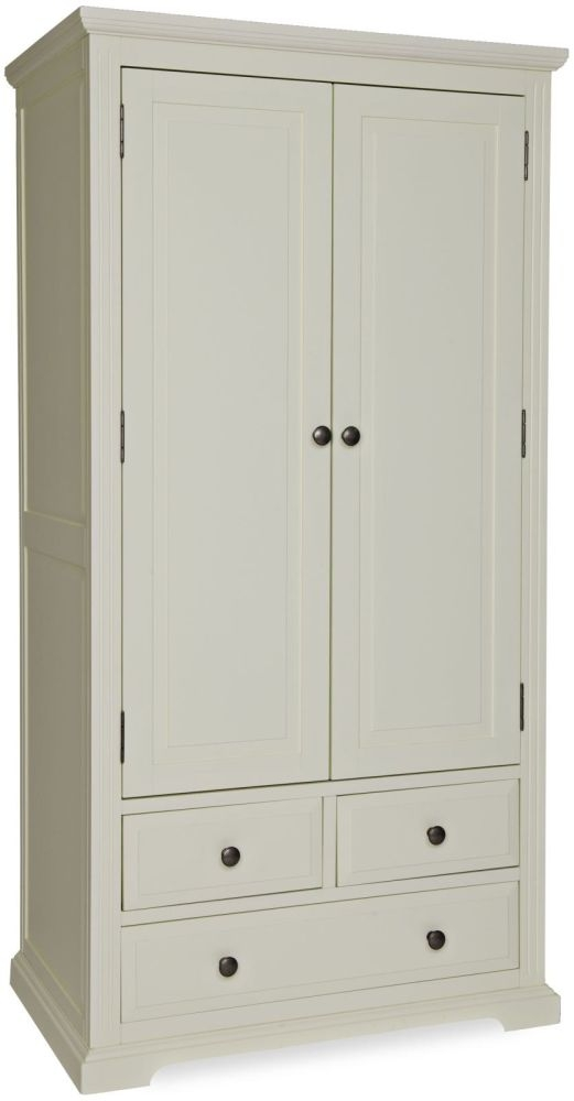 Chantilly White Painted Wardrobe - Gents