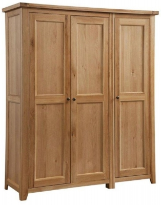 Colorado Oak 3 Door Triple Wardrobe
