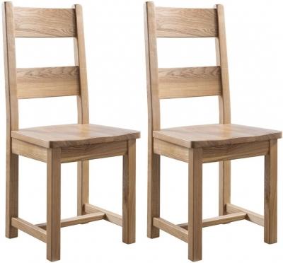 Colorado Oak Wooden Dining Chair (Pair)