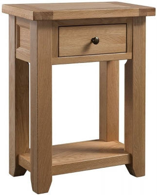 Colorado Oak 1 Drawer Console Table