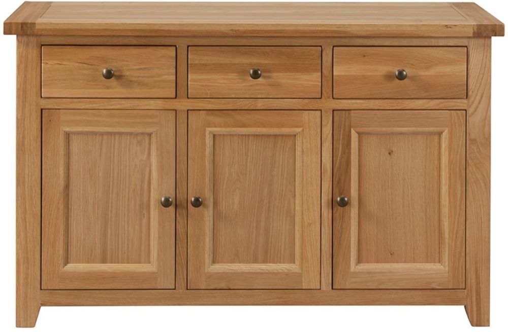 Colorado Oak Sideboard - 3 Door 3 Drawer Medium