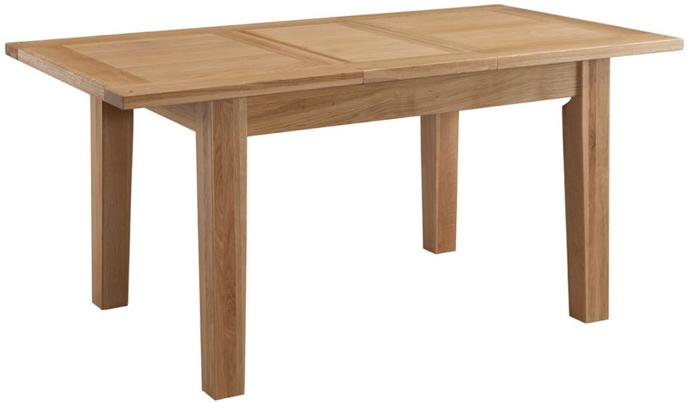 Colorado Oak Rectangular Extending Dining Table - 125cm-165cm