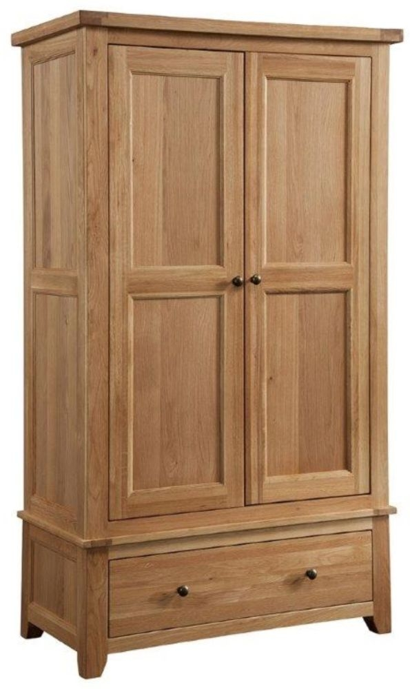 Colorado Oak Wardrobe - 2 Door 1 Drawer