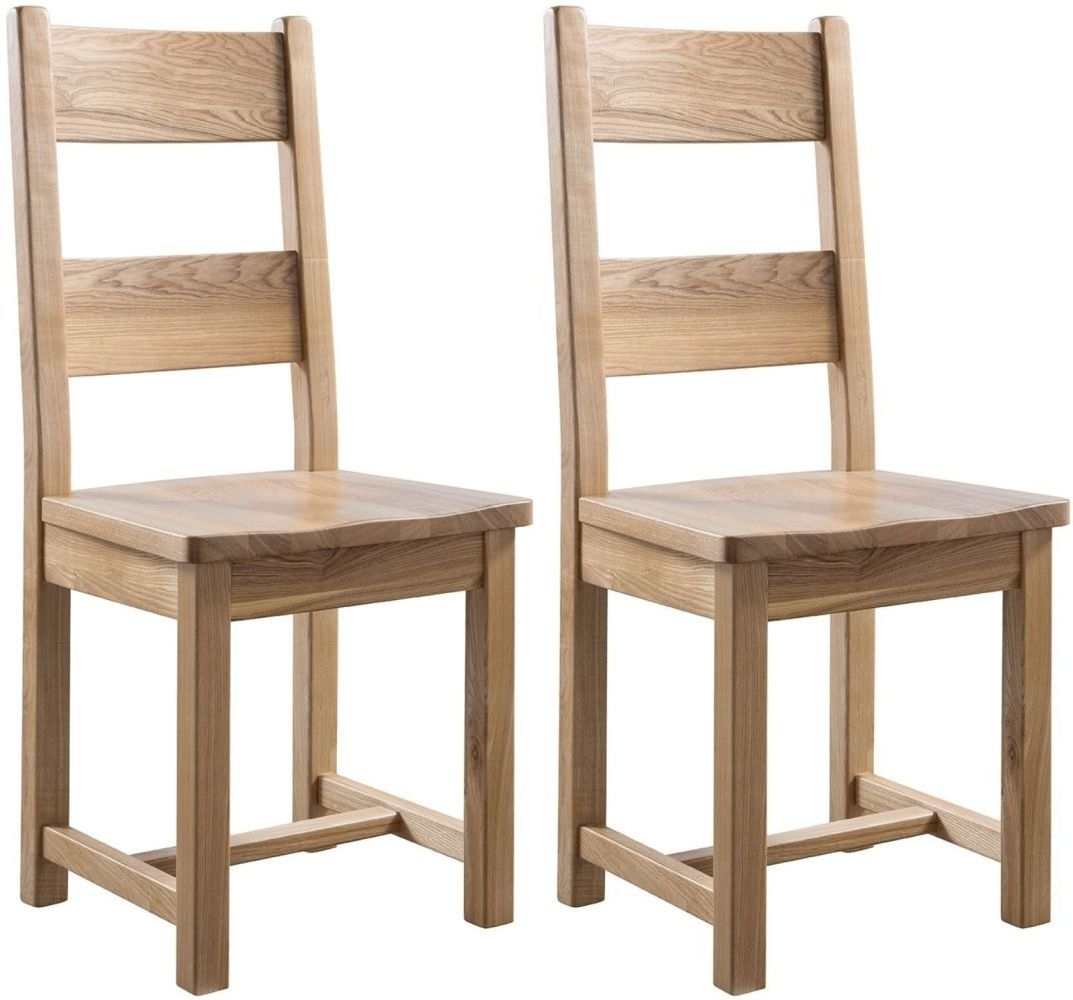 Colorado Oak Wooden Dining Chair (Pair)