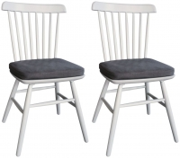 Compton Painted Dining Chair with Seat Pad (Pair)
