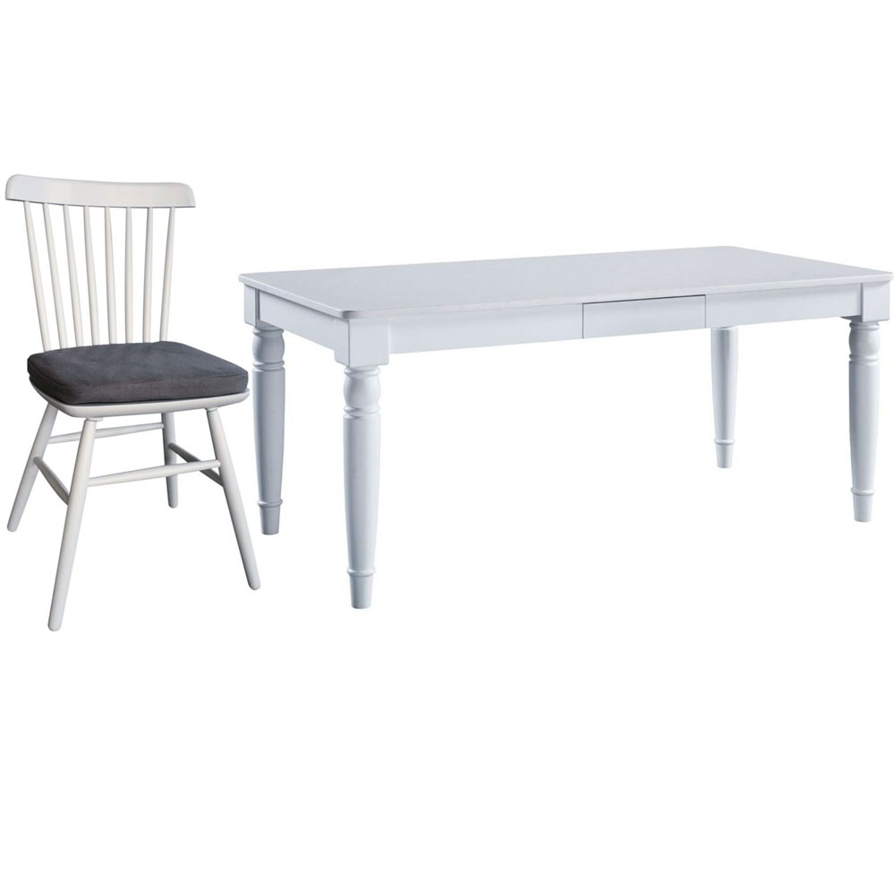 Compton Marble Top Dining Set with 4 Chairs
