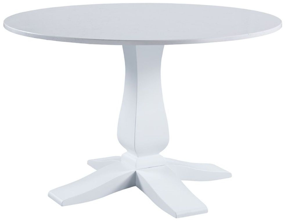 Compton Marble Top Round Pedestal Dining Table - 120cm