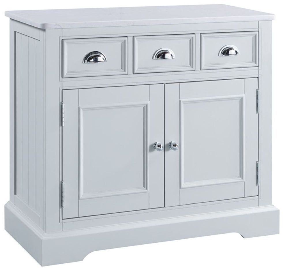 Compton Marble Top Sideboard - 2 Door 3 Drawer Narrow