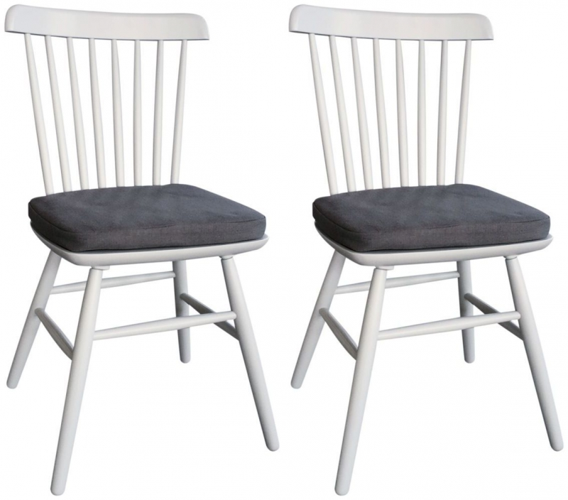 Compton Grey Painted Dining Chair (Pair)