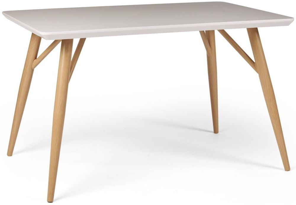 Contemporary High Gloss White 120cm Dining Table