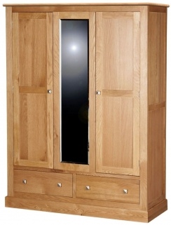 Dalton Oak Wardrobe - 3 Door