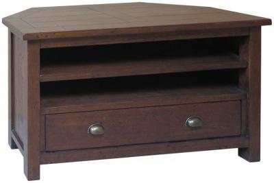 Driftwood Reclaimed Pine TV Cabinet - Corner