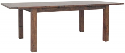 Driftwood Dark Reclaimed Pine 180cm-240cm Extending Dining Table