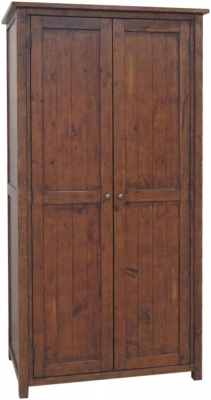 Driftwood Reclaimed Pine 2 Door Wardrobe