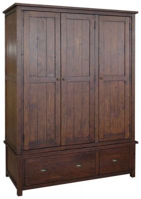 Driftwood Reclaimed Triple Wardrobe
