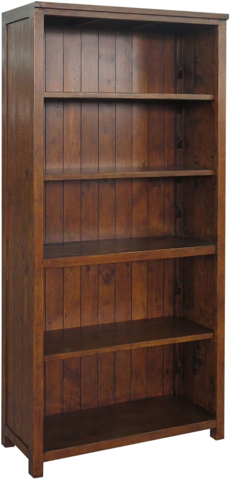 Driftwood Reclaimed Pine 4 Shelves Bookcase