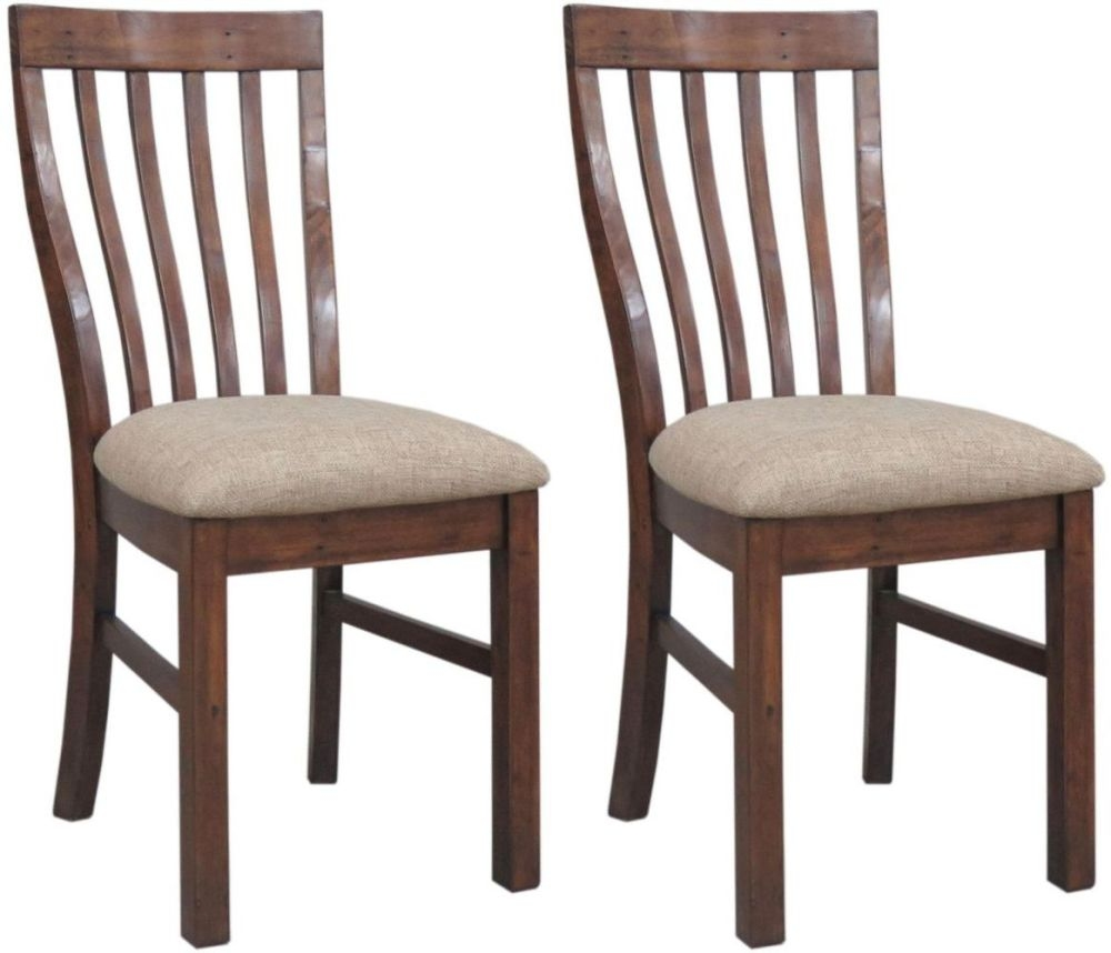 Driftwood Reclaimed Pine Dining Chair with Cushion Seat (Pair)