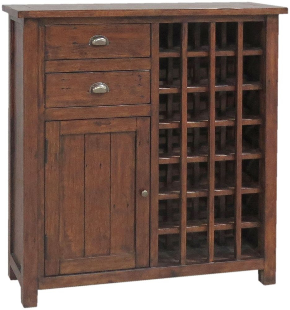 Driftwood Reclaimed Pine Wine Cabinet