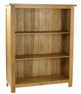 Essentials Oak Bookcase - Low