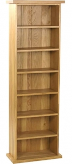 Essentials Oak CD Tower - Double