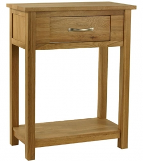 Essentials Oak Console Table - Small
