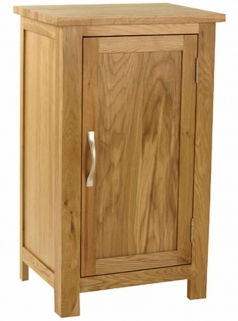 Essentials Oak Cupboard - 1 Door Small