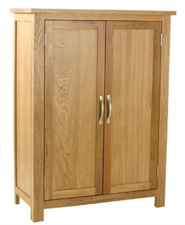Essentials Oak Cupboard - 2 Door