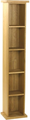 Essentials Oak DVD Tower - Single