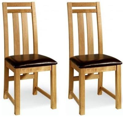 Essentials Oak Neveda Dining Chair (Pair)