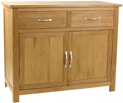 Essentials Oak Sideboard - 2 Door 2 Drawer