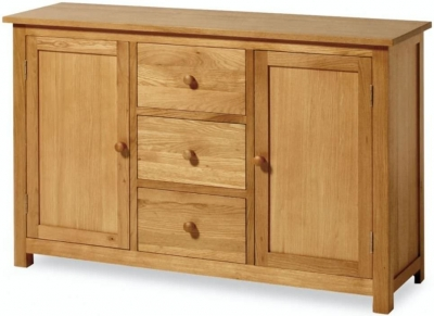 Essentials Oak Sideboard - 2 Door 3 Drawer