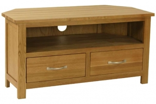 Essentials Oak TV Unit - Corner