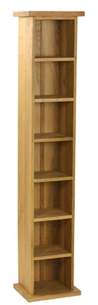 Essentials Oak CD Tower - Single