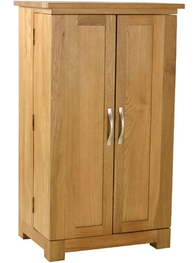 Essentials Oak CD and DVD Storage Cupboard