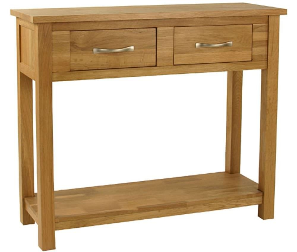 Essentials Oak Console Table
