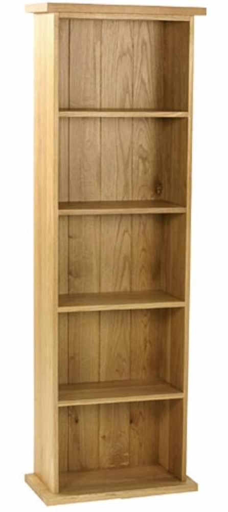 Essentials Oak DVD Tower - Double