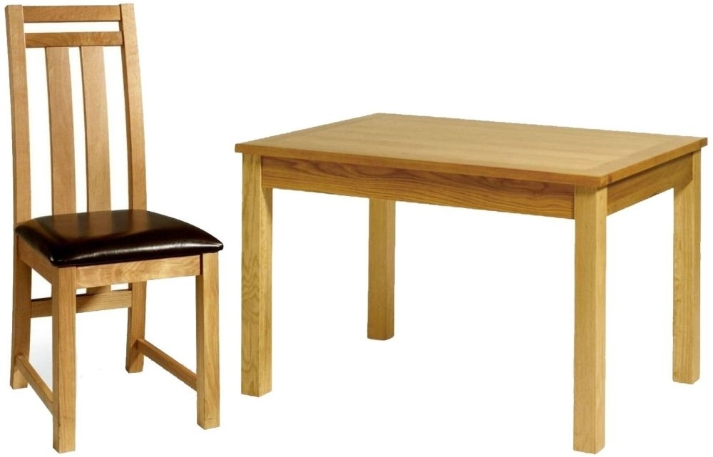 Essentials Oak Dining Set - Extending with Drawer with 6 Neveda Chairs