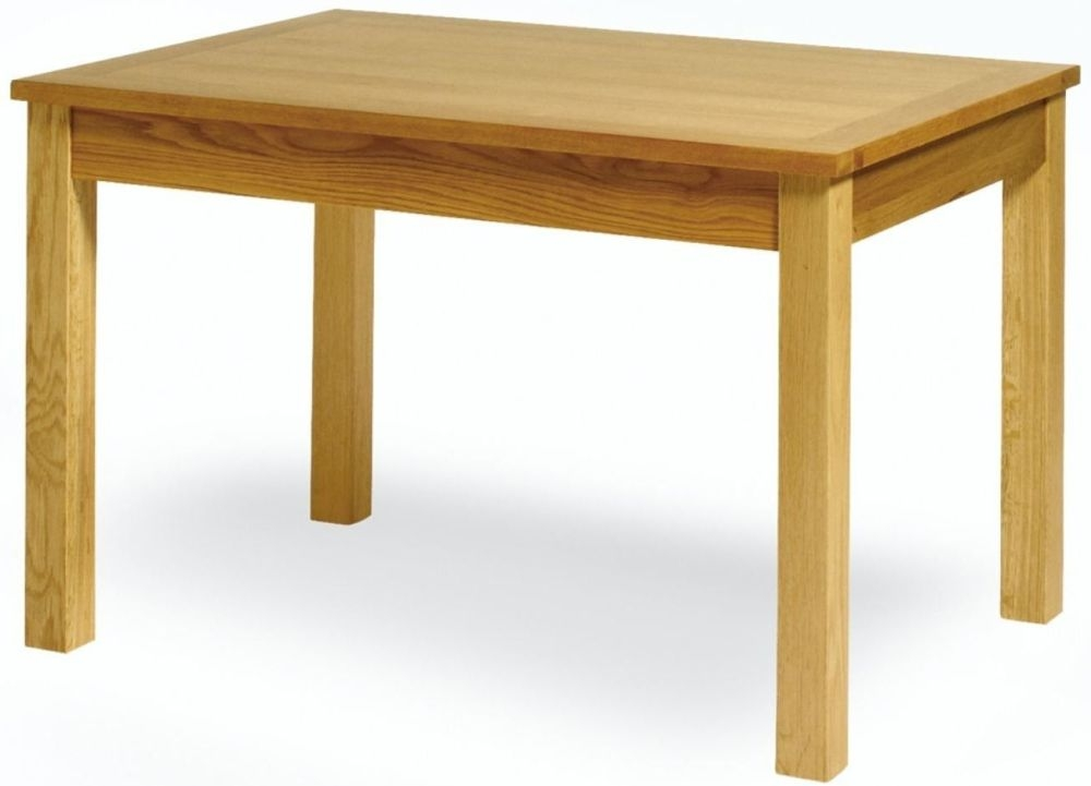 Essentials Oak Extending Dining Table with Drawer