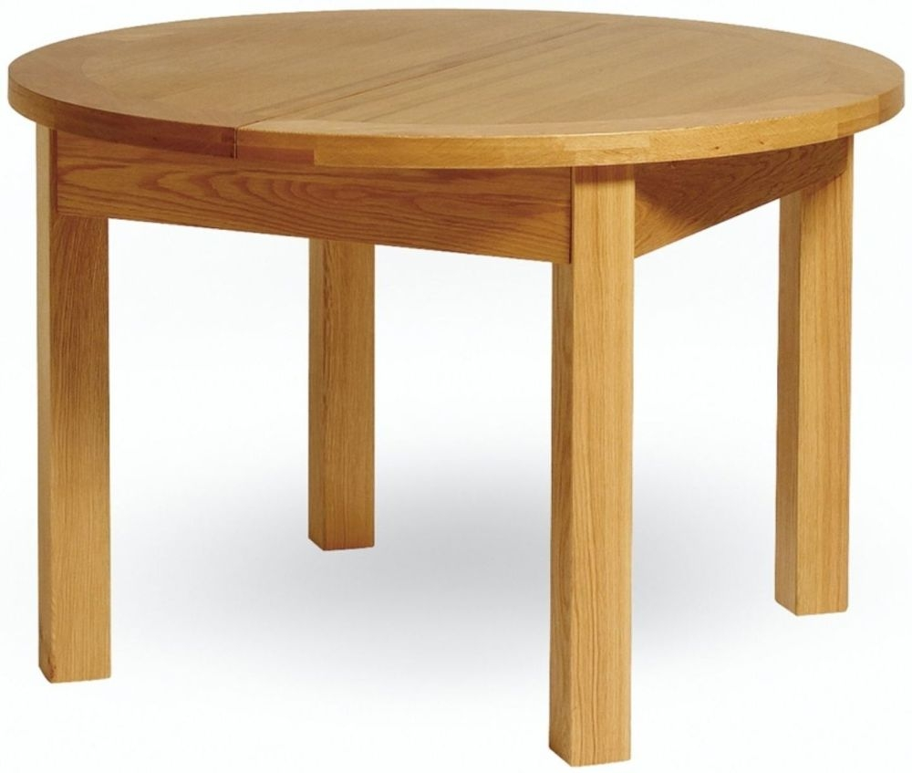 Buy Essentials Oak Extending Round Dining Table Online Cfs Uk