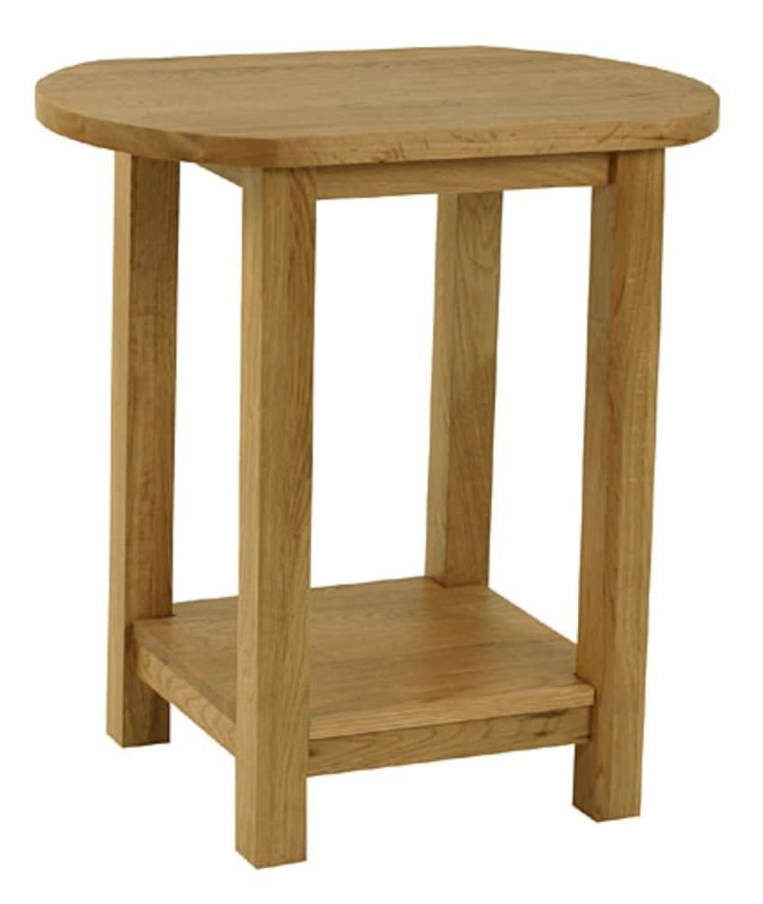 Essentials Oak Lamp Table - Oval